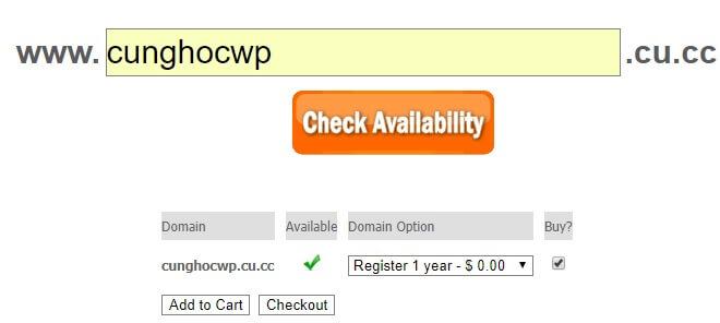 đăng ký tên miễn miễn phí tốt nhất tại CU.CC