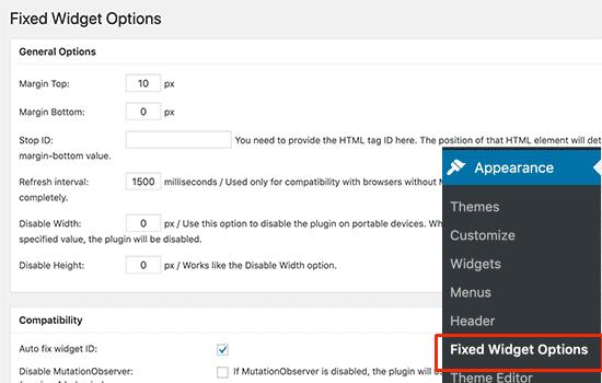 Cách tạo thanh công cụ Sidebar nổi trong WordPress