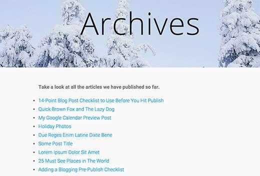 Hướng dẫn hiển thị tất cả bài đăng trên WordPress chỉ trong một trang