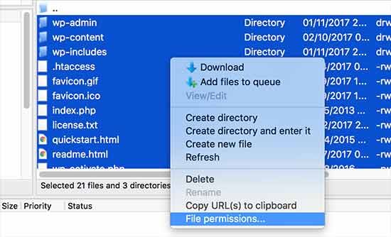 Hướng dẫn khắc phục lỗi phân quyền cho tệp và thư mục trong WordPress