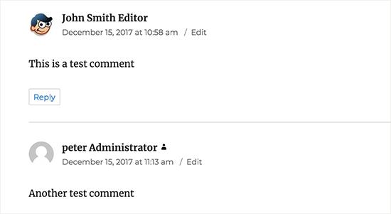 Hướng dẫn thêm User Role Label bên cạnh mỗi bình luận trong WordPress