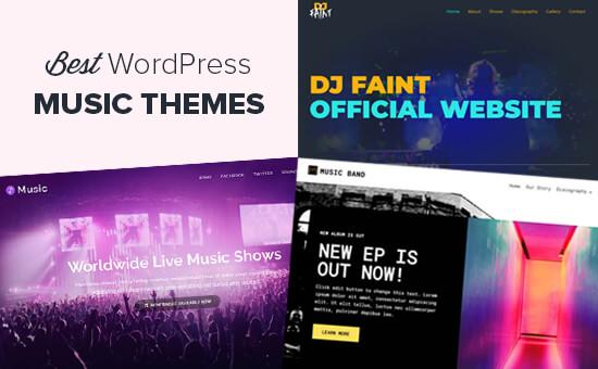 Chủ đề WordPress tốt nhất cho nhạc sĩ và ban nhạc