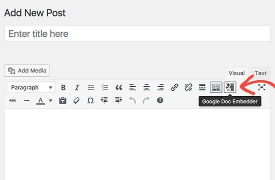 Nút nhúng Google Doc