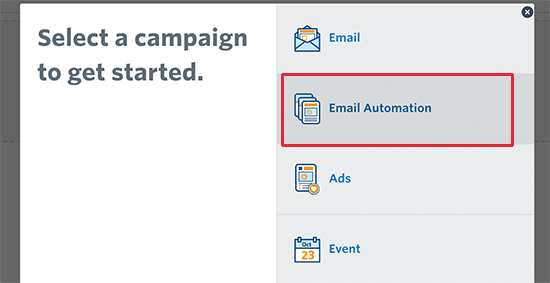 Email automation campaign