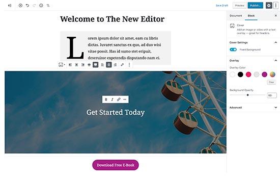 Trình chỉnh sửa WordPress mặc định