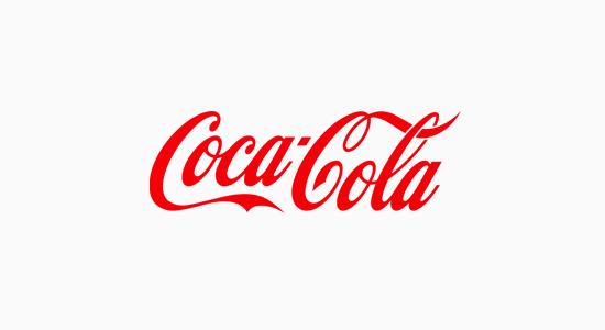 Logo biểu tượng của Coca Cola là một ví dụ cổ điển về logo wordmark