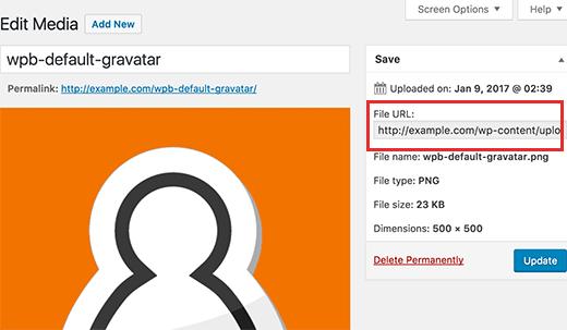 Sao chép URL tập tin