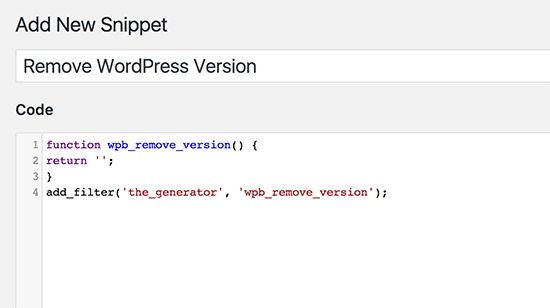 Adding your first code snippetAdding your first code snippet