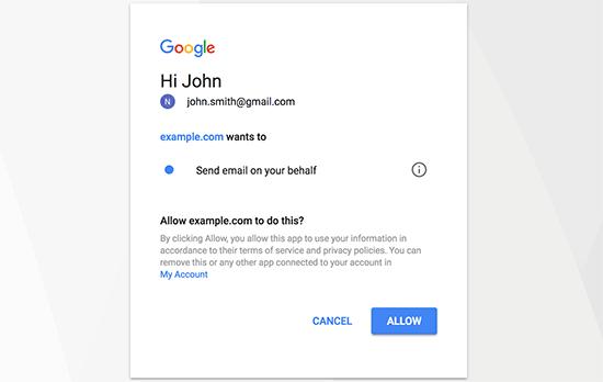 Cho phép Gmail