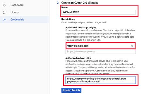 Thông tin xác thực API bước 2