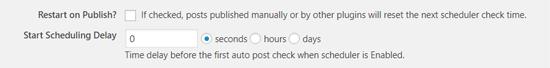 Tùy chọn đăng bài tự động lên lịch