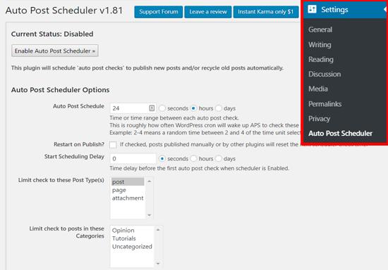Cài đặt lịch trình tự động đăng bài trong WordPress