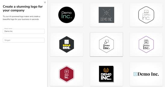 Chín logo bổ sung được tạo bởi Constant Contact
