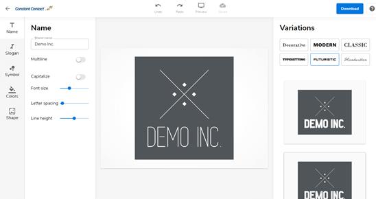 Trình chỉnh sửa logo Constant Contact