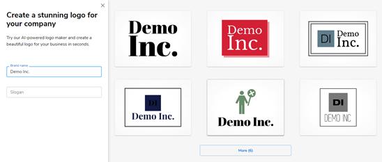 Sáu logo được tạo bởi nhà sản xuất logo của Constant Contact