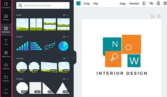Thêm các yếu tố vào thiết kế của bạn