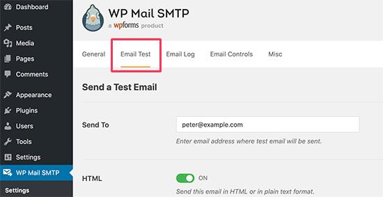 Kiểm tra cài đặt email WordPress SMTP
