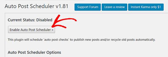 Bật Trình lập lịch đăng bài tự động trong WordPress