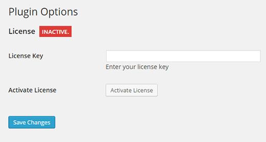 Enter your license key