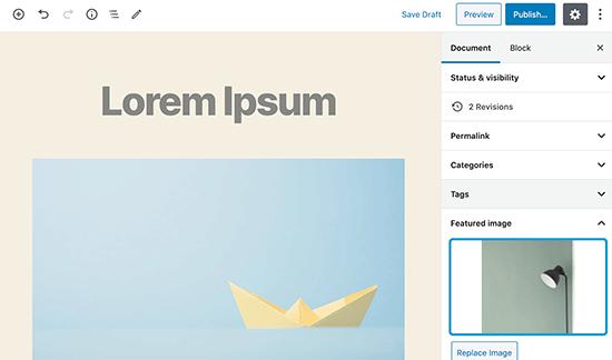 Người dùng có thể xuất bản bài đăng sau khi thêm hình ảnh nổi bật