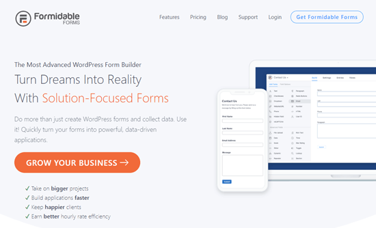Formidable Forms data visualization plugin