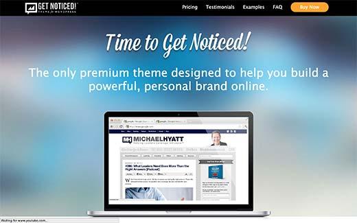 Nhận chủ đề WordPress thông báo cho thương hiệu cá nhân