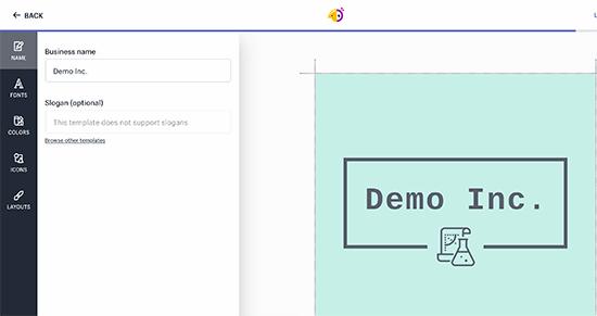 Chỉnh sửa logo của bạn với Hatchful