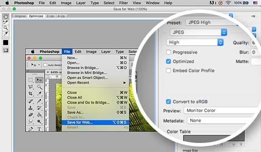 Chuyển đổi màu sắc sang RGB và tiết kiệm cho web trong Adobe Photoshop