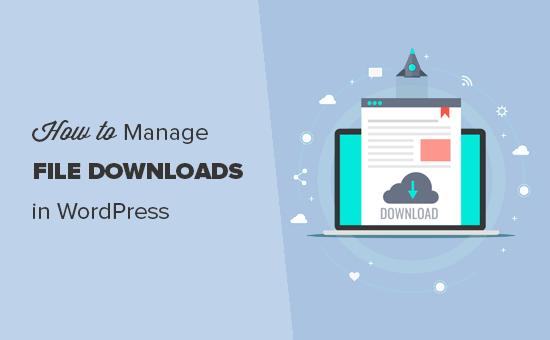 Managing file downloads in WordPress