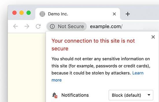 Trang web HTTP không an toàn