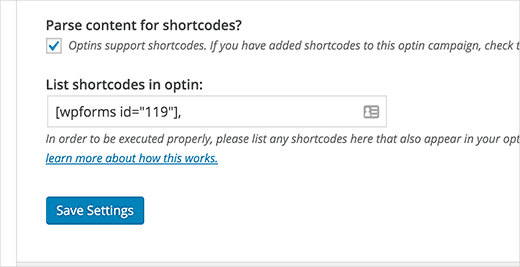 Enable shortcodes in popup