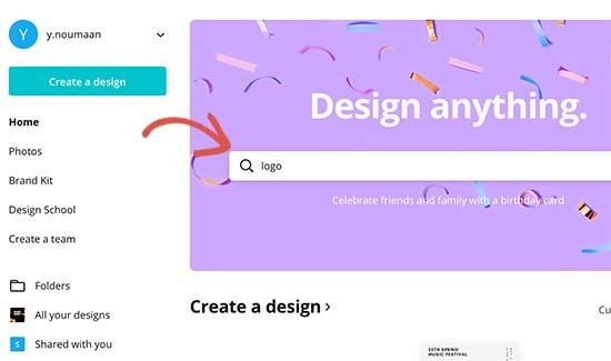 Tìm kiếm một mẫu logo
