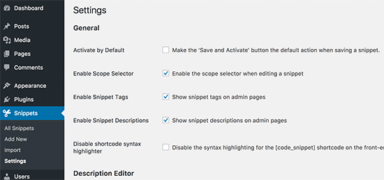 Tweaking plugin settings