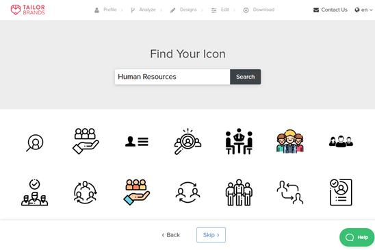 Chọn một biểu tượng cho logo của bạn