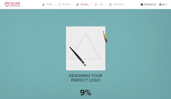Thương hiệu thợ may mất vài giây để tạo logo của bạn