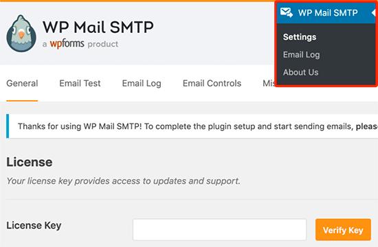 Khóa cấp phép WP Mail SMTP