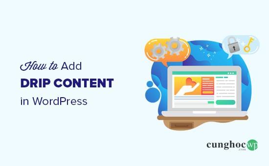 Cách thêm nội dung nhỏ giọt trong wordpress