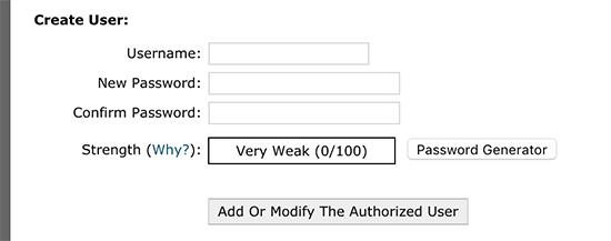 Add authorized user
