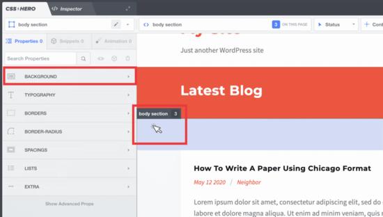 Bộ chọn hình nền WordPress