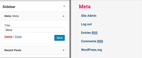 Tiện ích meta trong WordPress