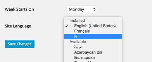 Installed languages