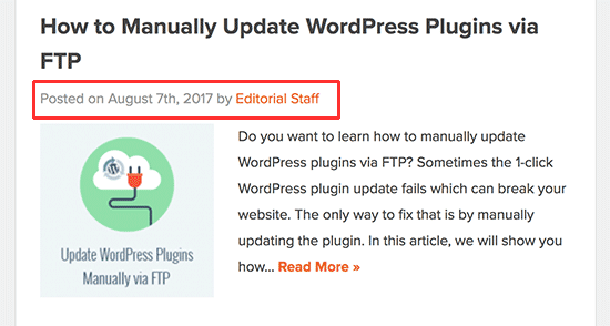 Đăng dữ liệu meta được hiển thị trong một bài đăng trên blog WordPress