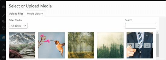Xem các hình ảnh đã tải lên trong Windows Media Library