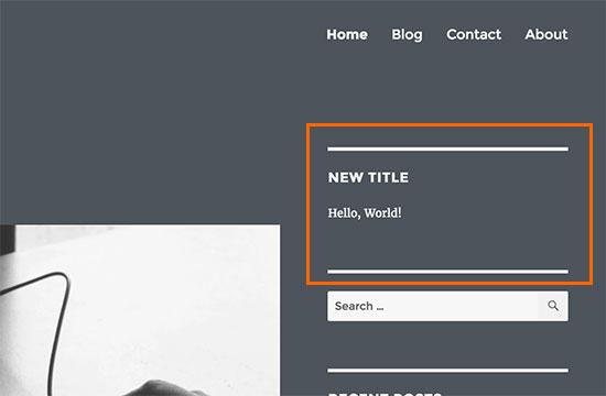 Previewing your custom widget