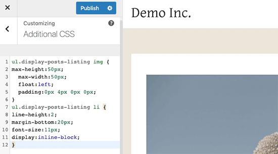 Hộp CSS tùy chỉnh