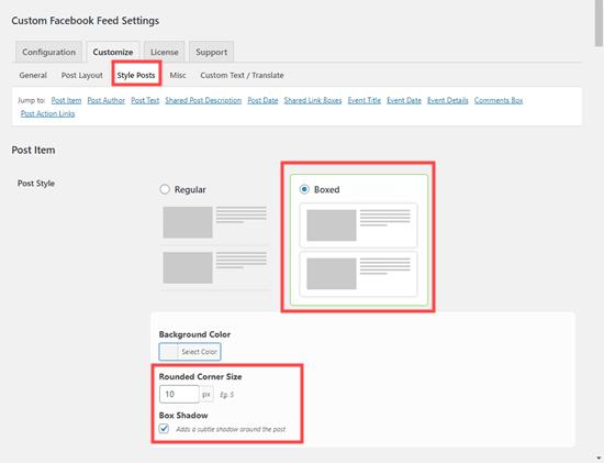 Thay đổi cách tạo kiểu bài đăng trên Facebook trong dòng thời gian bằng cách thêm hộp và các góc tròn