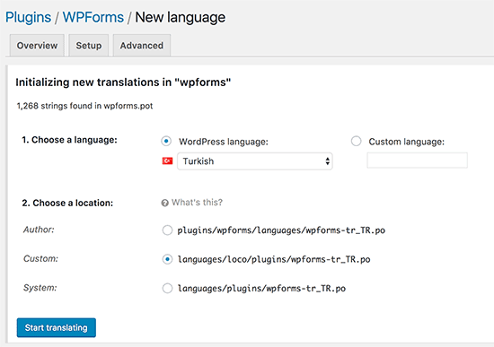 Thêm ngôn ngữ mới trong Loco Translate