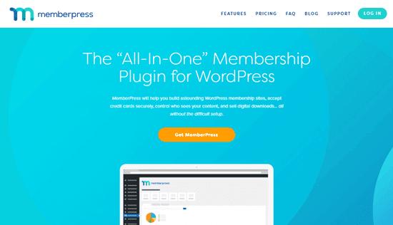 Trang web MemberPress