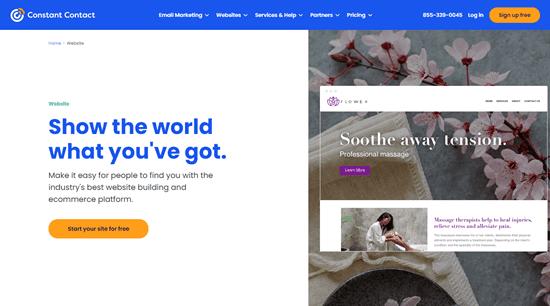 Trang web của Trình tạo trang web liên hệ liên tục