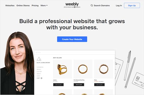 Trang web Weebly